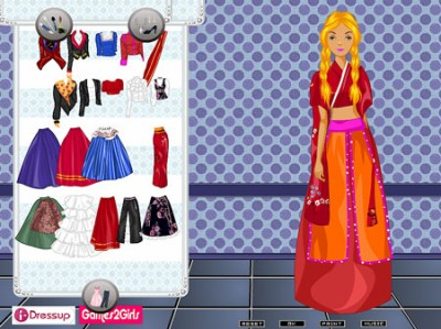 game - Barbie folk costumes