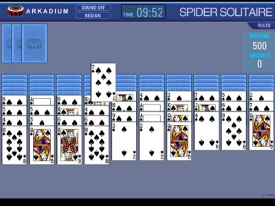 game - Spider solitaire