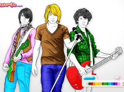 game - Jonas Brothers Coloring
