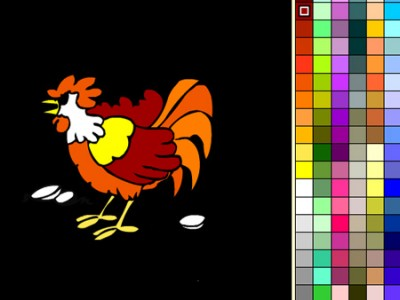 game - Color the rooster