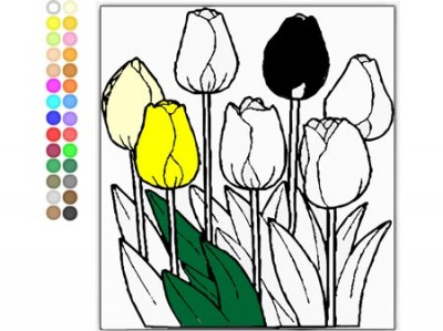 game - Colour the Tulips