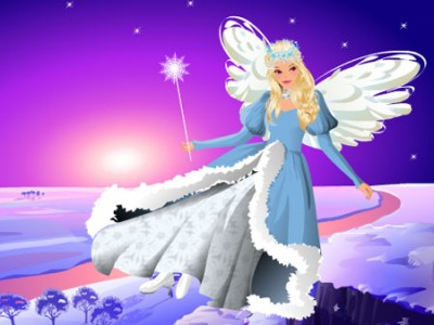 game - Winter's Angel Dress Up