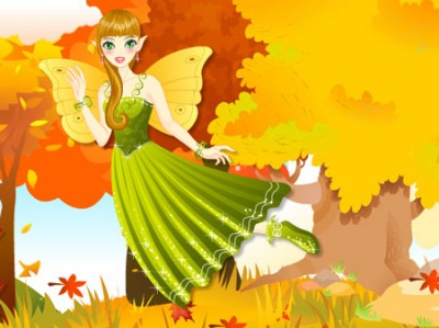game - Fairy in the Autumn Woods