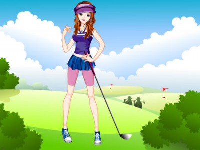 game - The Lively Golf Girl Dress Up