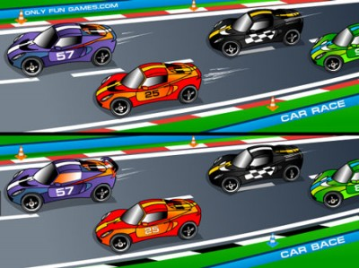 game - Racing Cartoon Differences