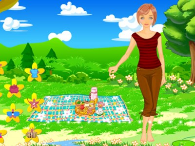 game - Summer Picnic Dress Up