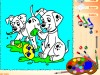 Color the Dalmatians-Coloring games